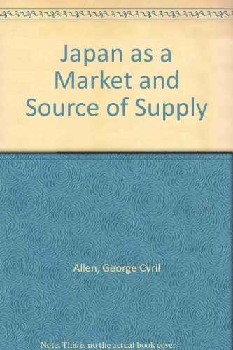9780080122342: Japan as a Market and Source of Supply
