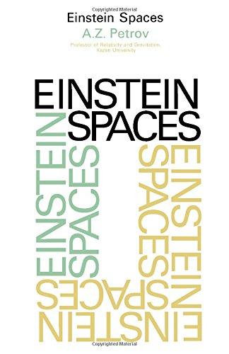 9780080123158: Einstein spaces,