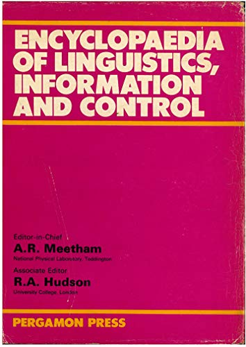 9780080123370: Encyclopaedia of Linguistics Information and Control