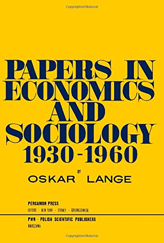 9780080123523: Papers in Economics and Sociology