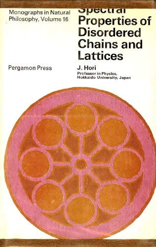 Spectral Properties of Discorded Chains and Lattices: J. Hori