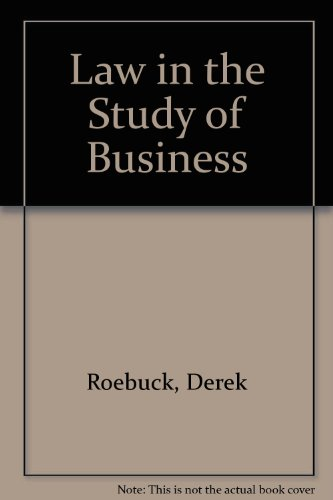 9780080125121: Law in the Study of Business