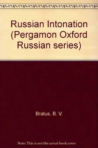 9780080125350: Russian Intonation (Pergamon Oxford Russian series)