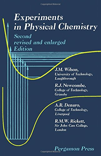 9780080125411: Experiments in Physical Chemistry