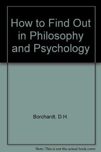 9780080125961: How to Find Out in Philosophy and Psychology