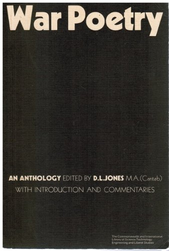 9780080126227: War Poetry: An Anthology
