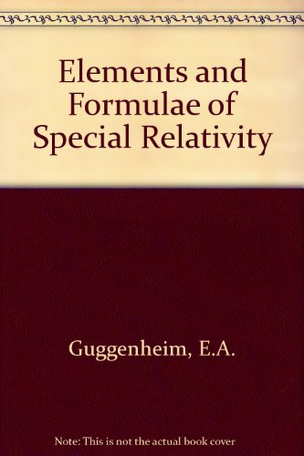 9780080126425: Elements and formulae of special relativity,