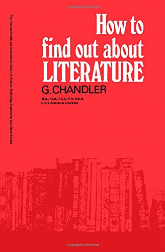 9780080127651: How to find out about Literature