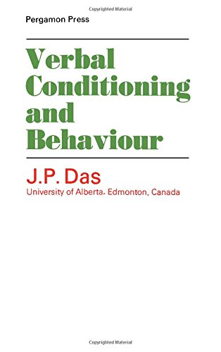 9780080128184: Verbal Conditioning and Behaviour