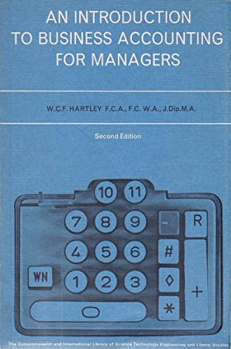 9780080133805: Introduction to Business Accounting for Managers (Commonwealth and international library. Social administration, training, economics, and production division)