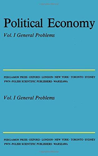 9780080135618: Political Economy: v. 1