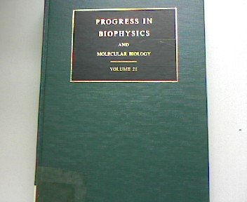 Progress in Biophysics and Molecular Biology: Vol 21.: Butler, J A V ; Noble, D