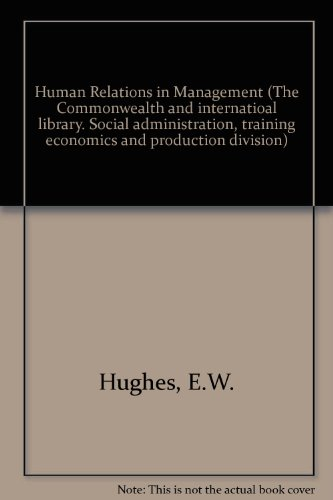 9780080158631: Human Relations in Management