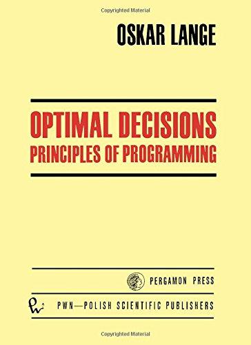 9780080160535: Optimal Decisions