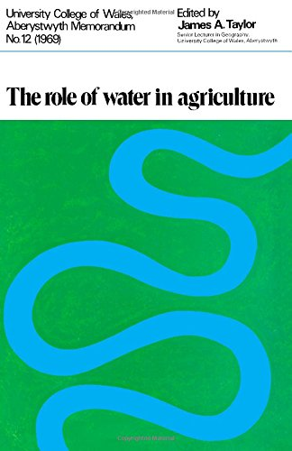 9780080161679: Role of Water in Agriculture (University College of Wales, Aberystwyth. Memorandum no. 12)