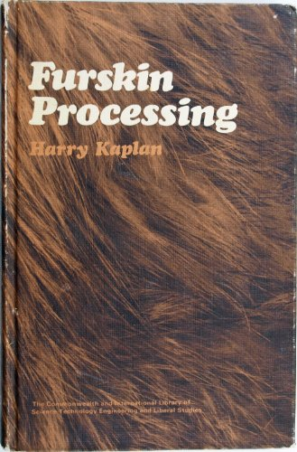 9780080163512: Fur-skin Processing (Commonwealth and international library, leather technology)
