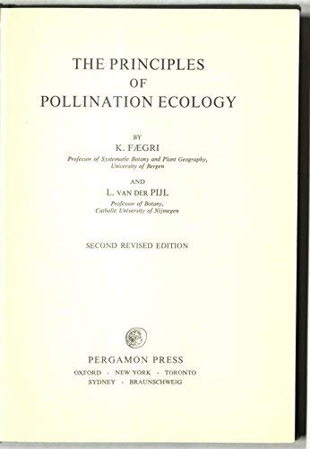 9780080164212: Principles of Pollination Ecology