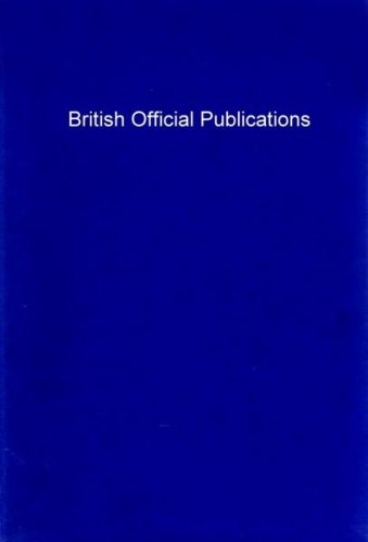 British official publications, (The Commonwealth and international library. Library and technical information division) (9780080164953) by Pemberton, John E