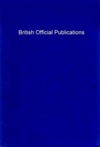 9780080164953: British Official Publications (C.I.L.)