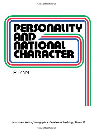 9780080165165: Personality and National Character (International series of monographs in experimental psychology)