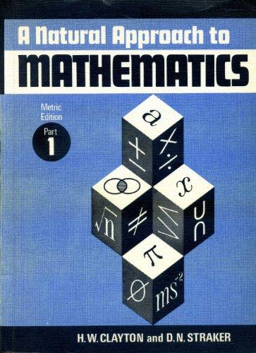 9780080165769: Natural Approach to Mathematics: Pt. 1