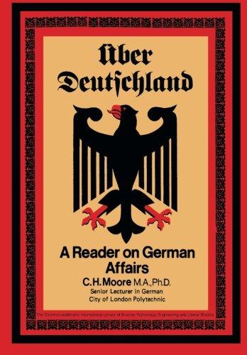 9780080165851: Über Deutschland: A Reader on German Affairs (Pergamon Oxford German)