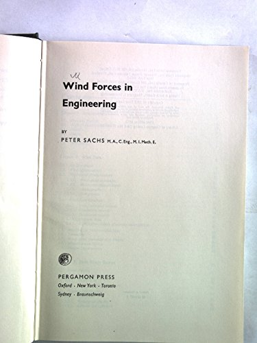 9780080166070: Wind Forces in Engineering (International series of monographs in civil engineering)