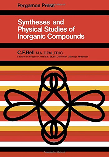 9780080166513: Synthesis and Physical Studies of Inorganic Compounds