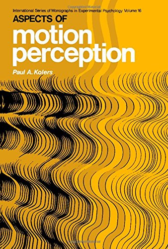 9780080168432: Aspects of Motion Perception (Monographs in Experimental Psychology)