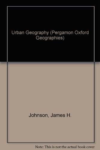 9780080169279: Urban Geography an Introductory Analysis (Pergamon Oxford Geographies)