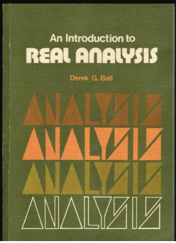 9780080169378: An introduction to real analysis, (The Commonwealth and international library)