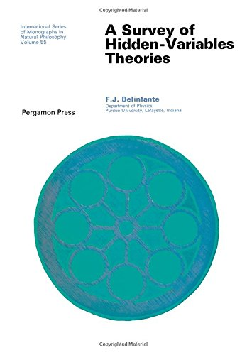9780080170329: Survey of Hidden Variable Theories (Monographs in Natural Philosophy)