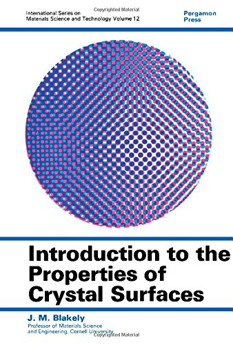 9780080176413: Introduction to the Properties of Crystal Surfaces (Materials Science & Technology Monographs)