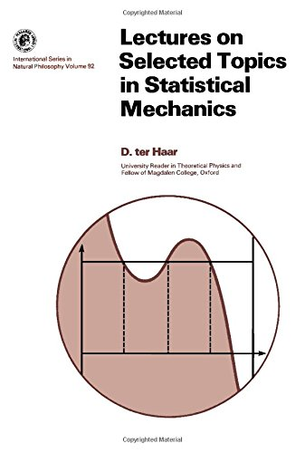 9780080179377: Lectures on Selected Topics in Statistical Mechanics