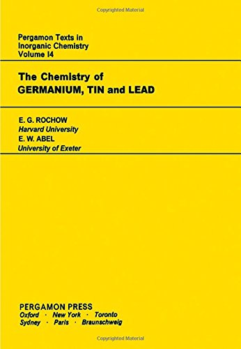 9780080188546: Chemistry of Germanium, Tin and Lead (Texts in Inorganic Chemistry)