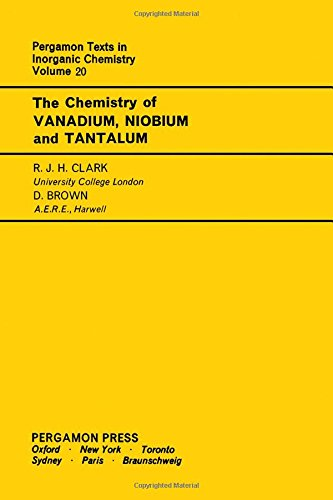 9780080188652: Chemistry of Vanadium, Niobium and Tantalum (Texts in Inorganic Chemistry)