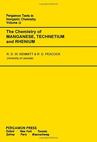 9780080188706: The Chemistry of Manganese, Technetium & Rhenium