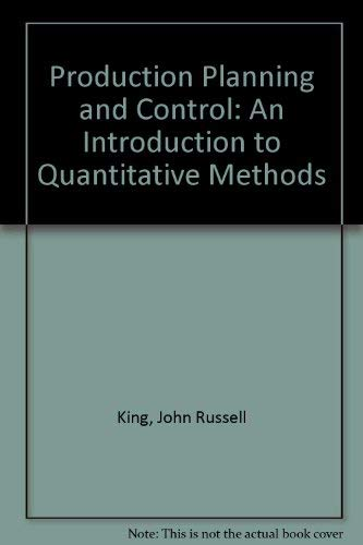 9780080189833: Production planning and control;: An introduction to quantitative methods, (Omega management science)