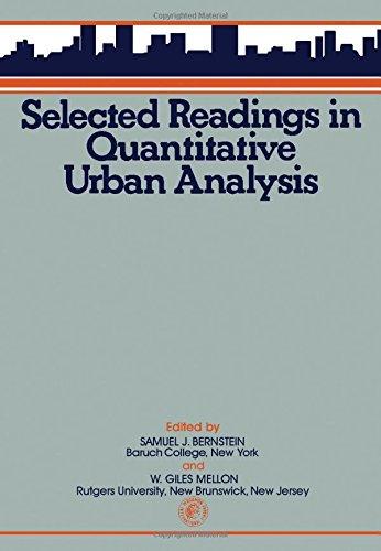 9780080195926: Selected Readings in Quantitative Urban Analysis