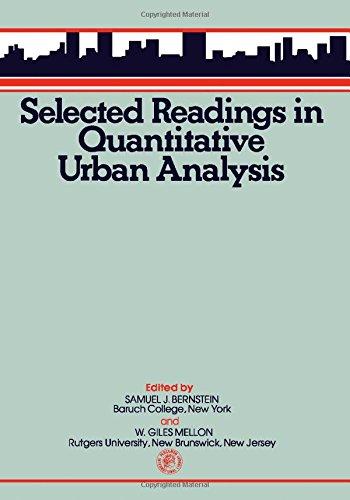 9780080195933: Selected Readings in Quantitative Urban Analysis