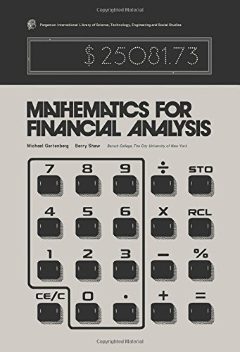 9780080195995: Mathematics for Financial Analysis (Pergamon international library of science, technology, engineering, and social studies)