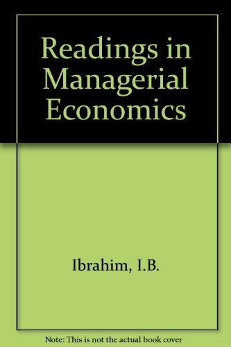 9780080196046: Readings in Managerial Economics