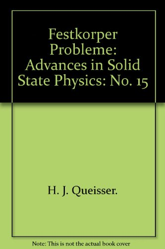 Festkörper Probleme VIII. Advances in Solid State Physics