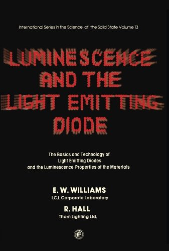 Luminescence and the Light Emitting Diode: The: Williams, E. W.