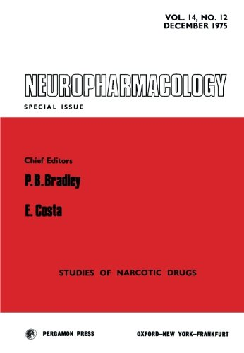 9780080205656: Neuropharmacology: Studies of Narcotic Drugs, Scpecial Issue No. 12 (Volume 14)