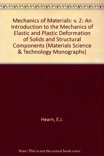 9780080206172: Mechanics of Materials: An Introduction to the Mechanics of Elastic and Plastic Deformation of Solids and Structural Components: v. 2 (Materials Science & Technology Monographs)