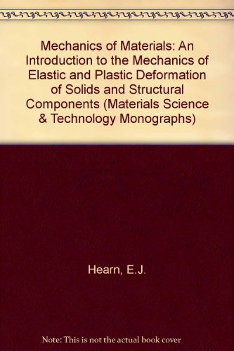 9780080206189: Mechanics of Materials: An Introduction to the Mechanics of Elastic and Plastic Deformation of Solids and Structural Components (Materials Science & Technology Monographs)