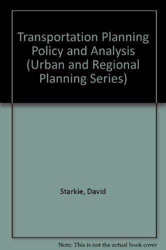 9780080209081: Transportation Planning, Policy and Analysis (Progress in Water Technology)