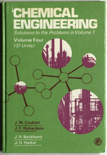 9780080209265: Chemical Engineering: Solutions to the Problems in v.1 v. 4 (Chemical Engineering Monographs)
