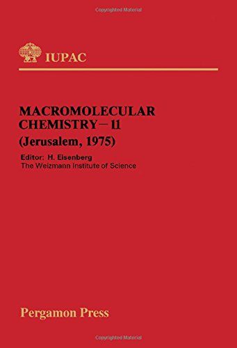 9780080209753: Macromolecular chemistry, 11: Plenary and sectional lectures